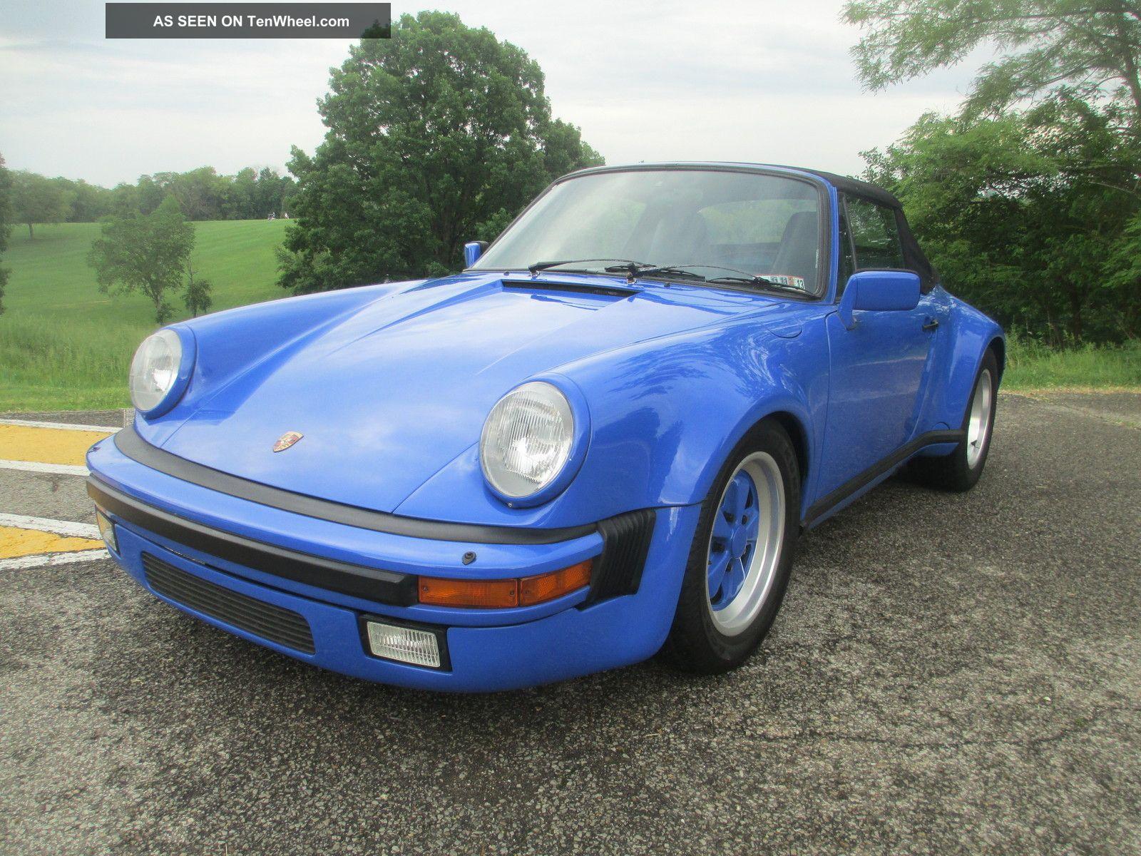 1983 Porsche 911 Sc Convertible 2 - Door 3.  0l 911 photo