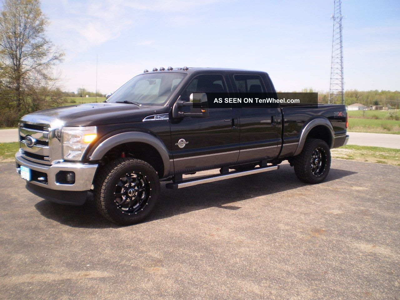 2011 Ford F250 Lariat 4x4 Crew Cab 6.  7 Power Stroke Diesel Many Extras Look F-250 photo