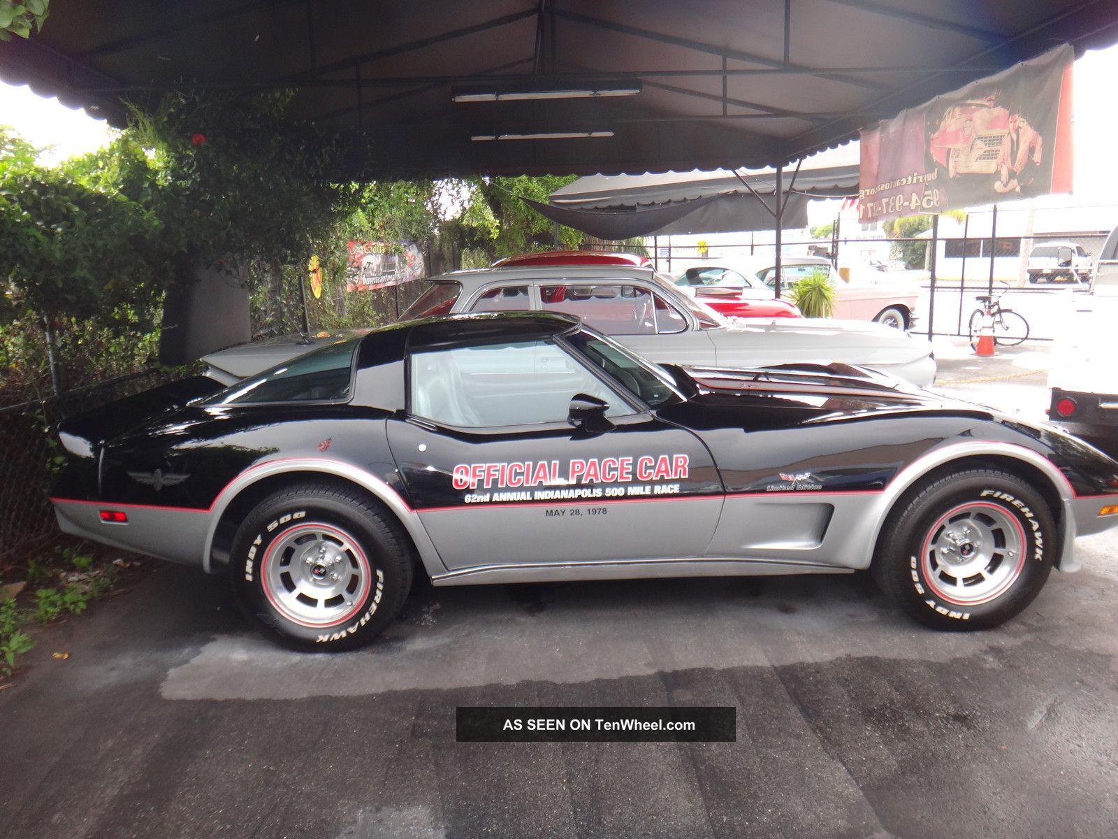 1978 chevy corvette pace car 4397 show car cold a c. Black Bedroom Furniture Sets. Home Design Ideas
