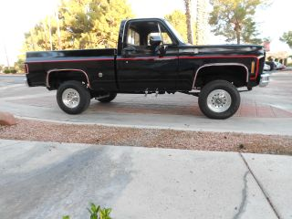 1978 Chevy Scottsdale Shortbed 4x4 K10 P / U West Coast Truck photo
