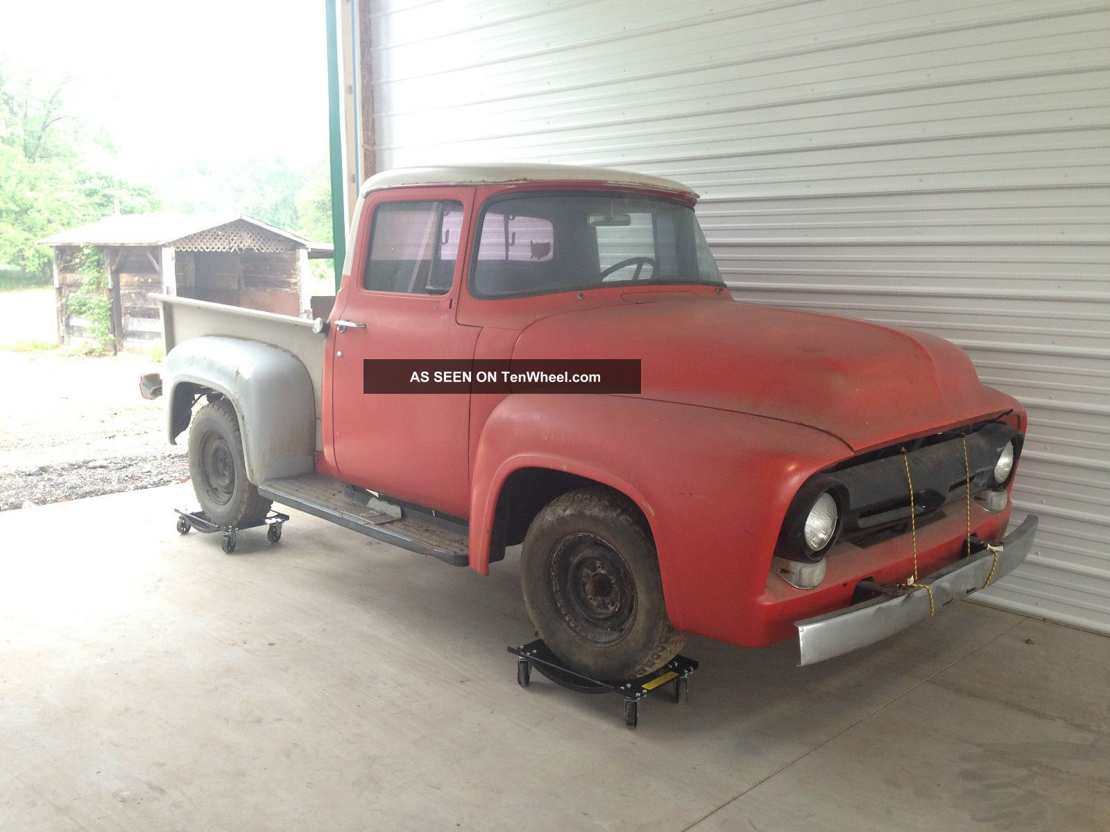 1956 Ford F100 Pickup Truck Very Little Rust Easy Restoration F-100 photo