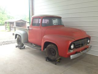 1956 Ford F100 Pickup Truck Very Little Rust Easy Restoration photo