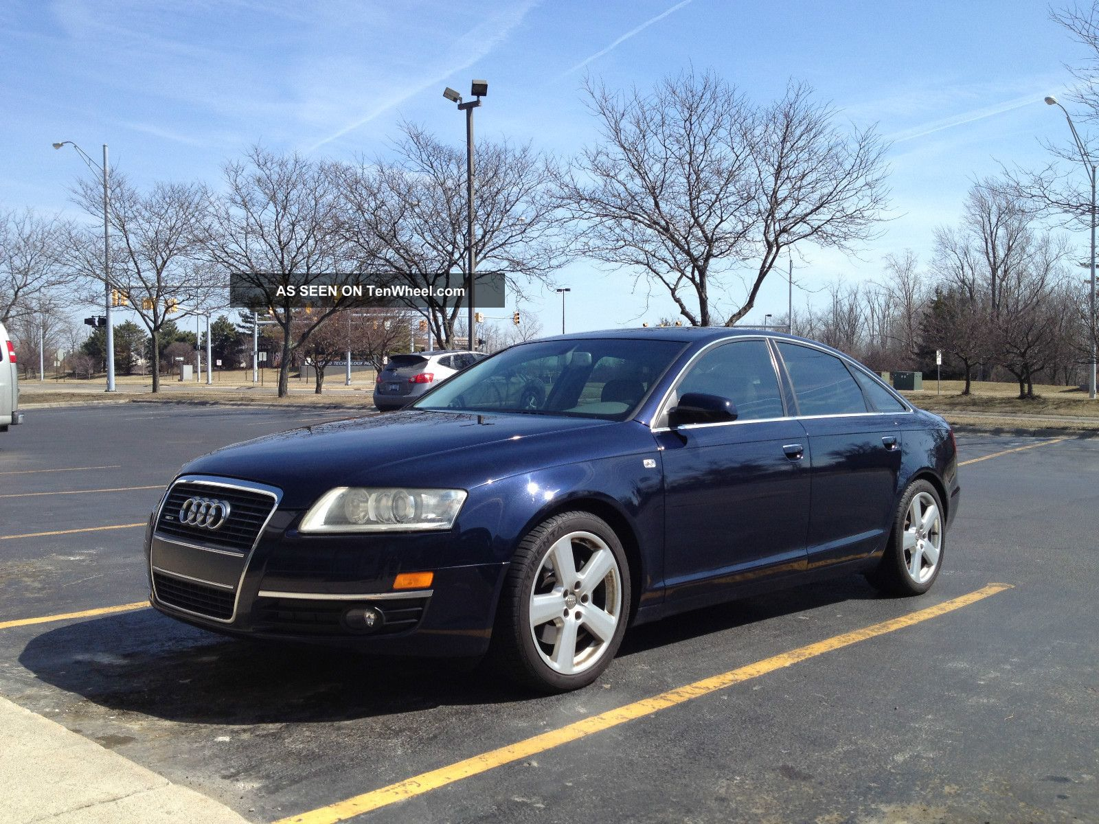 2005 Audi A6 Quattro 4dr Sedan V6 3.  2l Premium Loaded Awd Night Blue / Platinum A6 photo