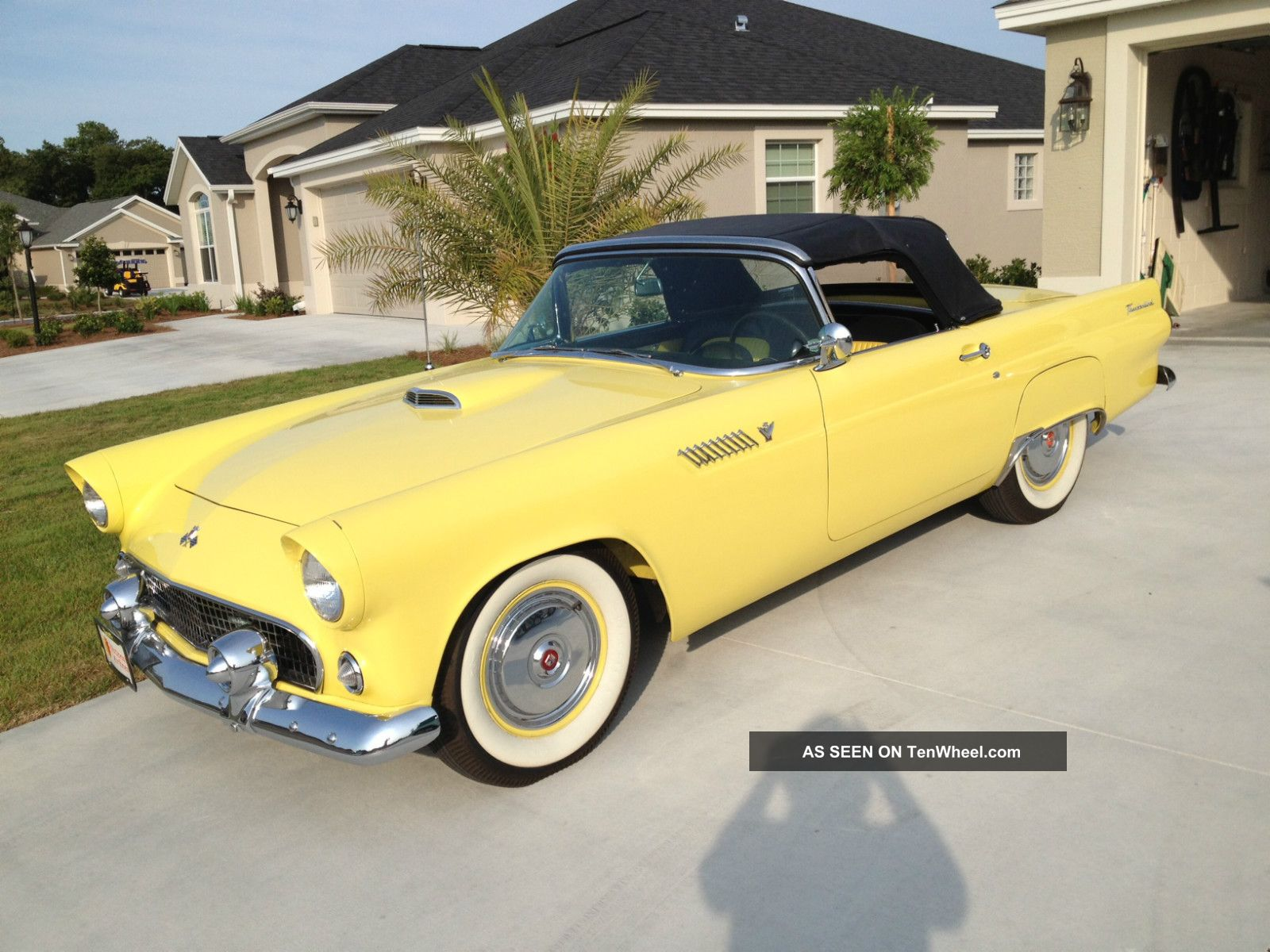 1955 Thunderbird Rare Goldenrod Yellow Paint With Black Soft Top Thunderbird photo