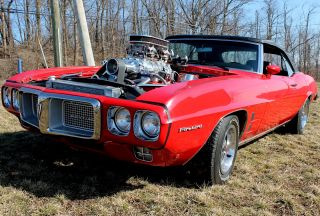 1969 Red Firebird Convertible With 572 Motor 912 Hp Great Car photo