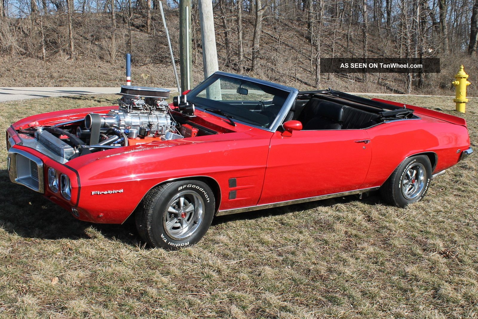 1969 red firebird convertible with 572 motor 912 hp great car