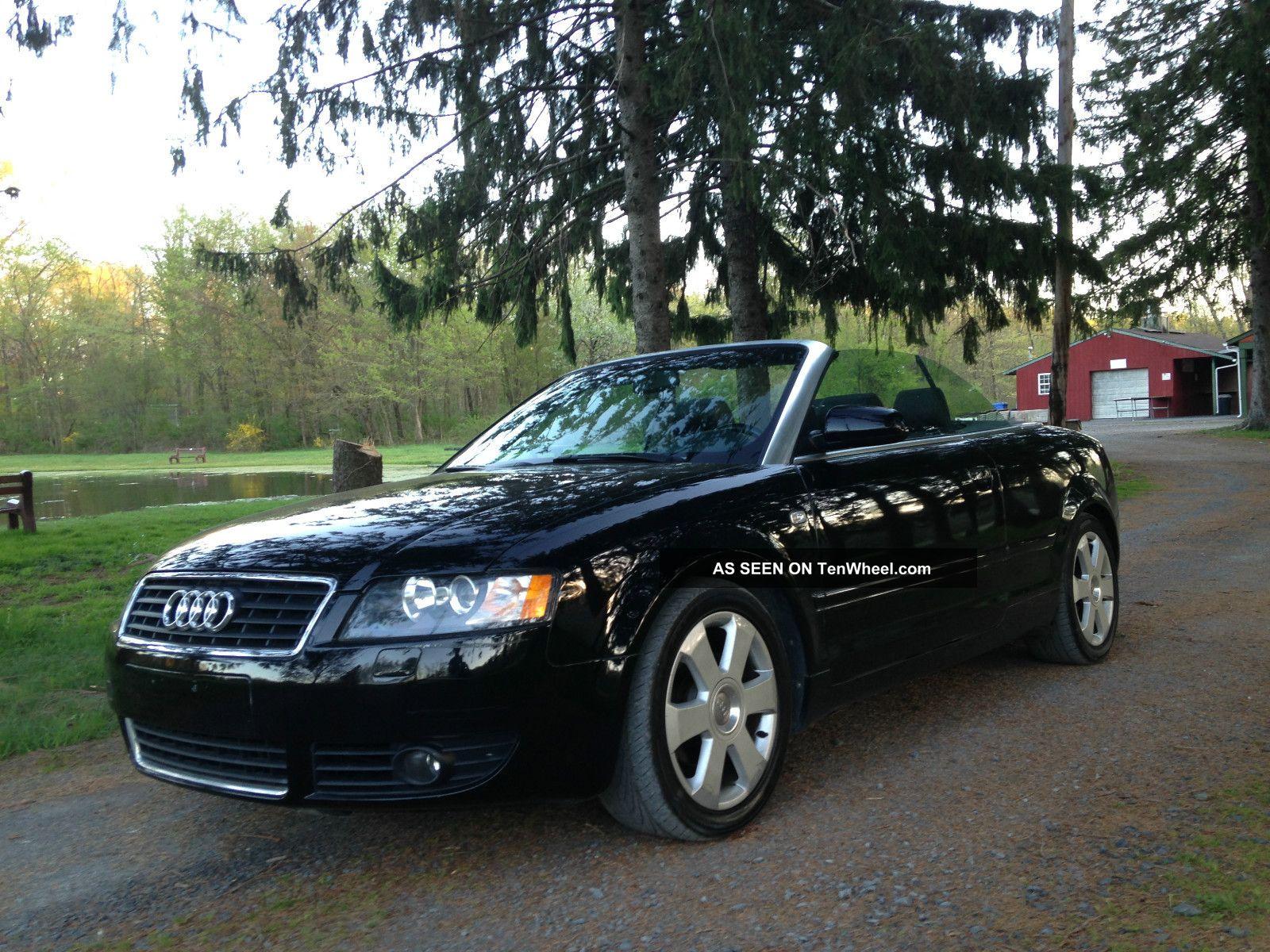 2003 Audi A4 Cabriolet Convertible 2 - Door 1.  8t Black On Black Cvt Tranny A4 photo