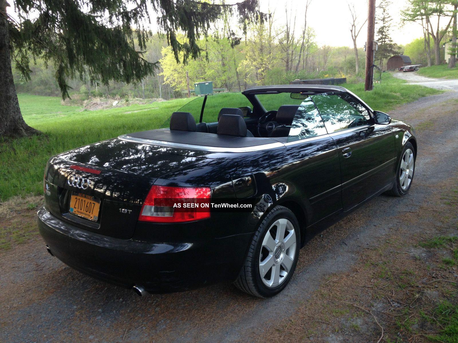 2003 audi a4 cabriolet convertible 2 door 1 8t black on black cvt tranny. Black Bedroom Furniture Sets. Home Design Ideas