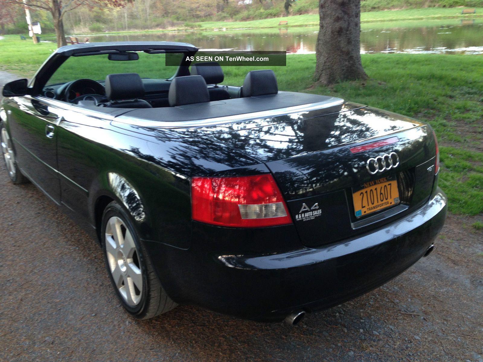 2003 Audi A4 Cabriolet Convertible 2 Door 1 8t Black On Cvt