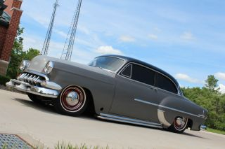 1954 Chevrolet Belair,  Rat Rod,  Bagged,  350 V8,  Hot Rod,  Custom photo