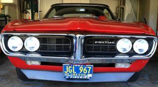 1967 Pontiac Firebird V8,  Convertible,  4 Speed photo