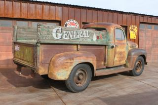 1952 Ford F - 3 Barn Find Survivor Patina Finish Pickup With Flat Head V8 photo
