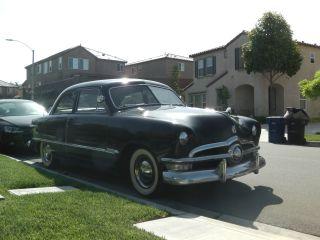 1950 Ford Custom Tudor Sedan Shoebox Hot Rod Streetrod photo