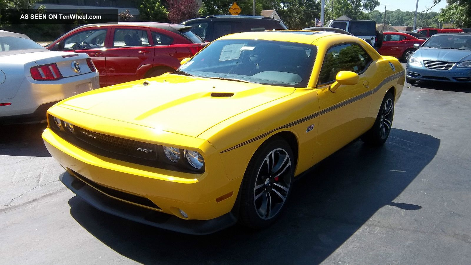 2012 Dodge Challenger Srt8 Yellow Jacket Stinger Yellow Challenger photo