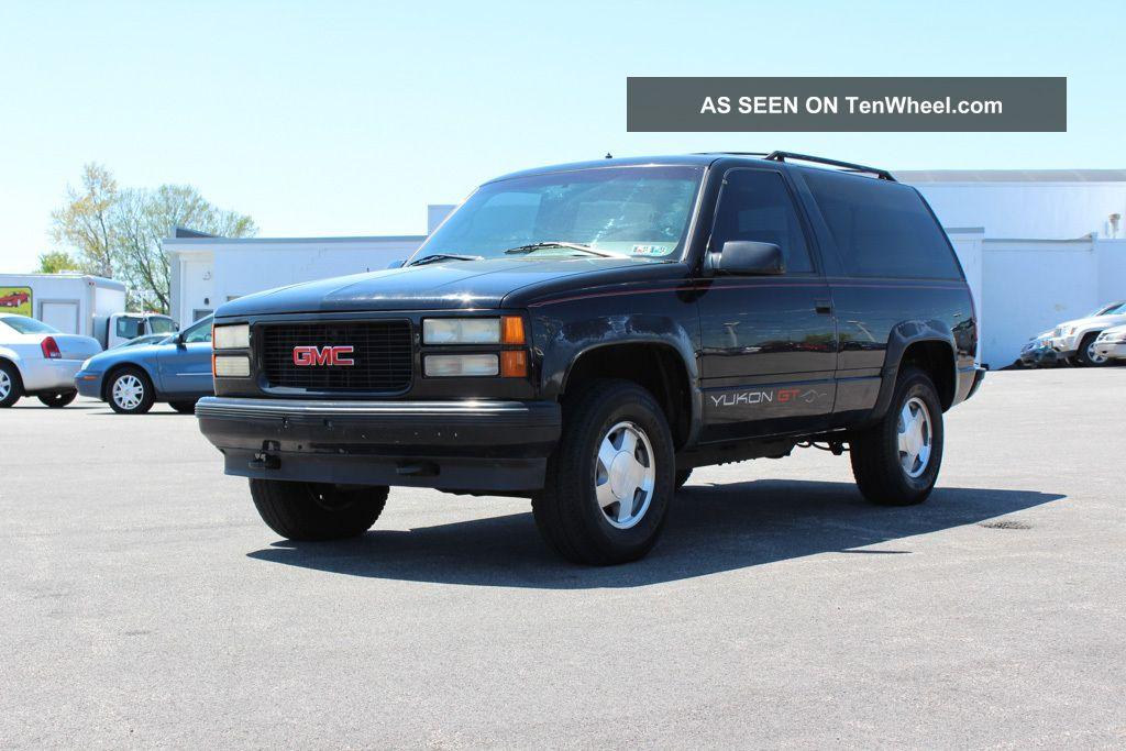 1995 Gmc Yukon Slt K1500 Sport Utility 4 Door 5 7l 4wd K5 Blazer
