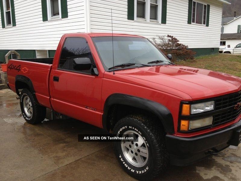 1991 chevrolet c1500 sport fleetside pickup 4x4 red. Black Bedroom Furniture Sets. Home Design Ideas