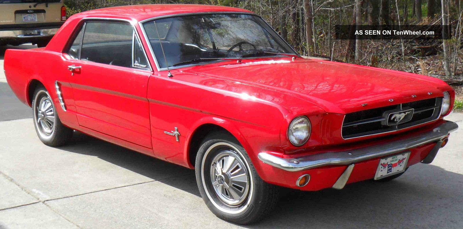 1965 Red Ford Mustang Standard 6 - Cyl 3 - Speed Garage Kept Smooth Running Classic Mustang photo