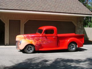 1940 Ford Pick Up Deluxe Custom Hot - Rod Gm454 All Steel Body - Many Mods photo
