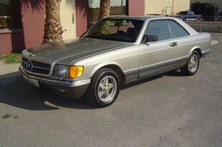 1985 Mercedes Benz 500 Sec - I Owner,  Euro Import,  Time Capsule photo