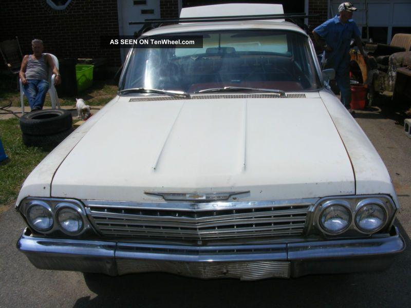 1962 Chevrolet Bel Air 4 Door Hard Air Conditioned Factory Ac Power Steering Bel Air/150/210 photo