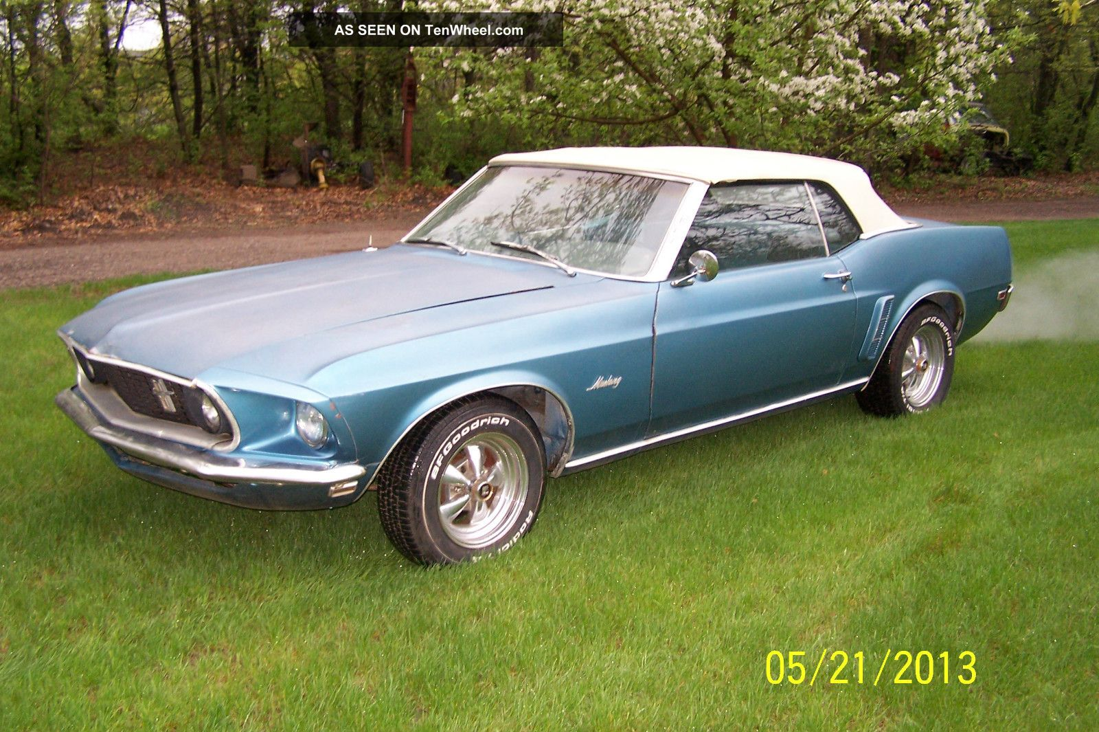 1969 Ford Mustang Convertible 2 - Door 5.  0l A / C Car Mustang photo
