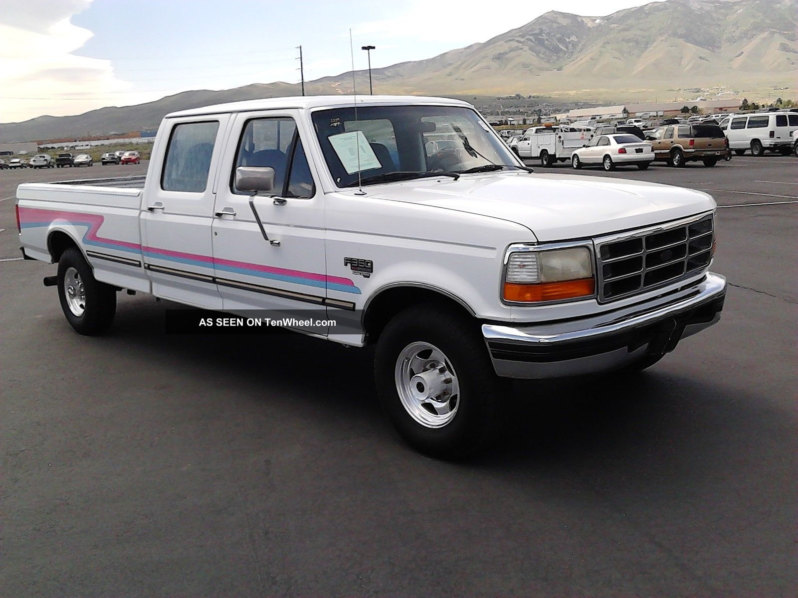 1996 Ford F350 Crewcab 7.  3 Powerstroke Turb Diesel / 60 Day Layaway / World Ship F-350 photo