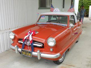 Metropolitan Nash,  Classic Car,  1955,  Canyon Red / White Hard Top, photo