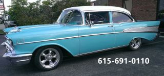1957 Chevy Bel Air 2 Dr Post 350 / 4sp Muncie - Frame Off By Woodys Hot Rod Shop photo