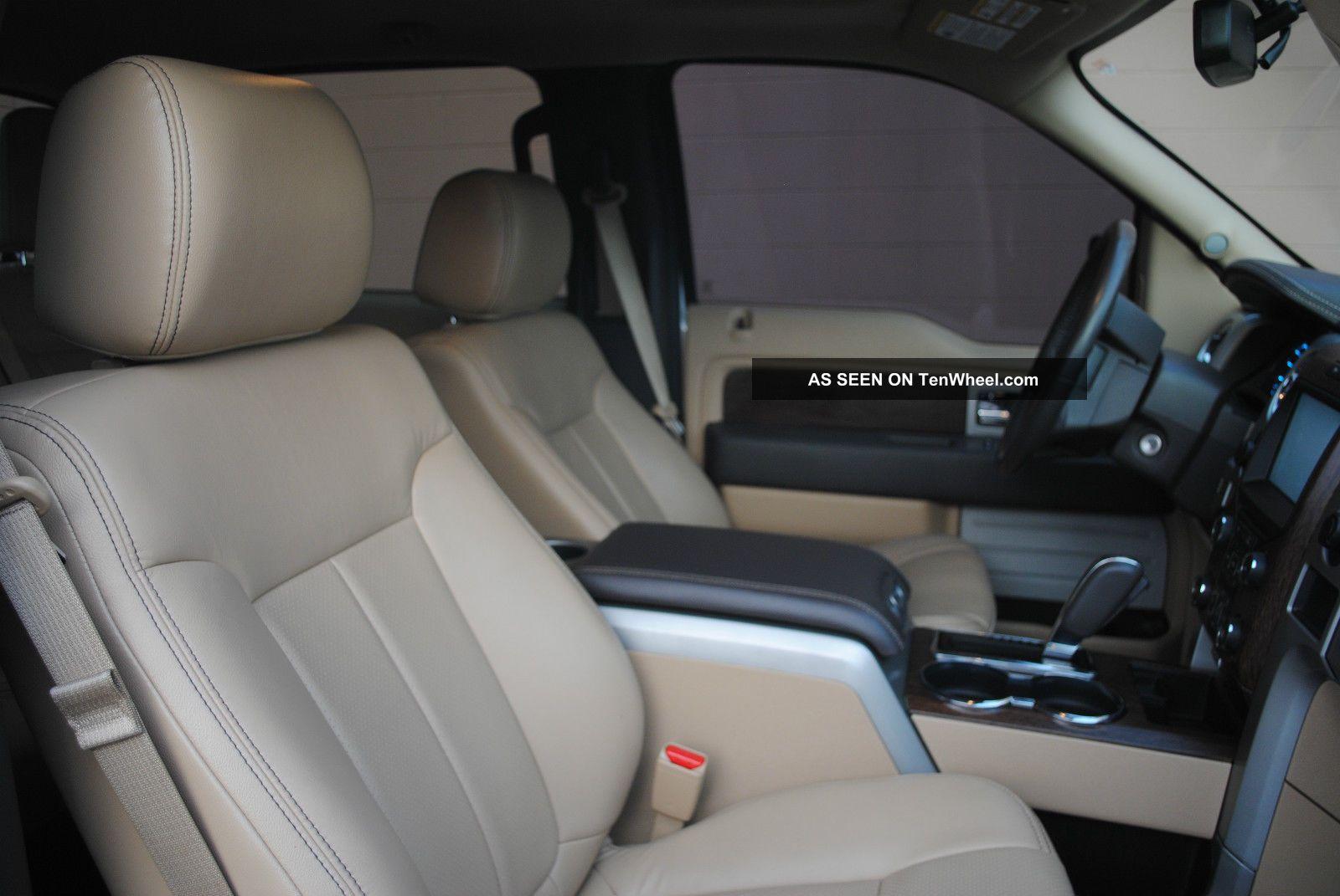 2013 Ford F150 Lariat 4x4 Ecoboost Supercrew White Platinum Tri Coat