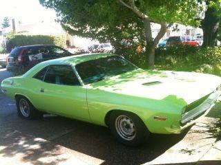 Green 1970 Dodge Challenger,  Runs,  383 Big Block,  727,  Autometer Gauges,  Msd 6al photo