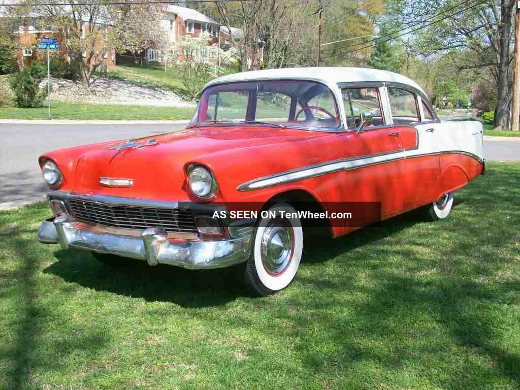 1956 chevrolet 4 door belair sedan for 1956 belair 4 door