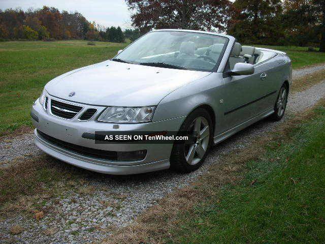 2006 Saab 9 3 Aero Convertible 2 8l Turbo 6 Speed