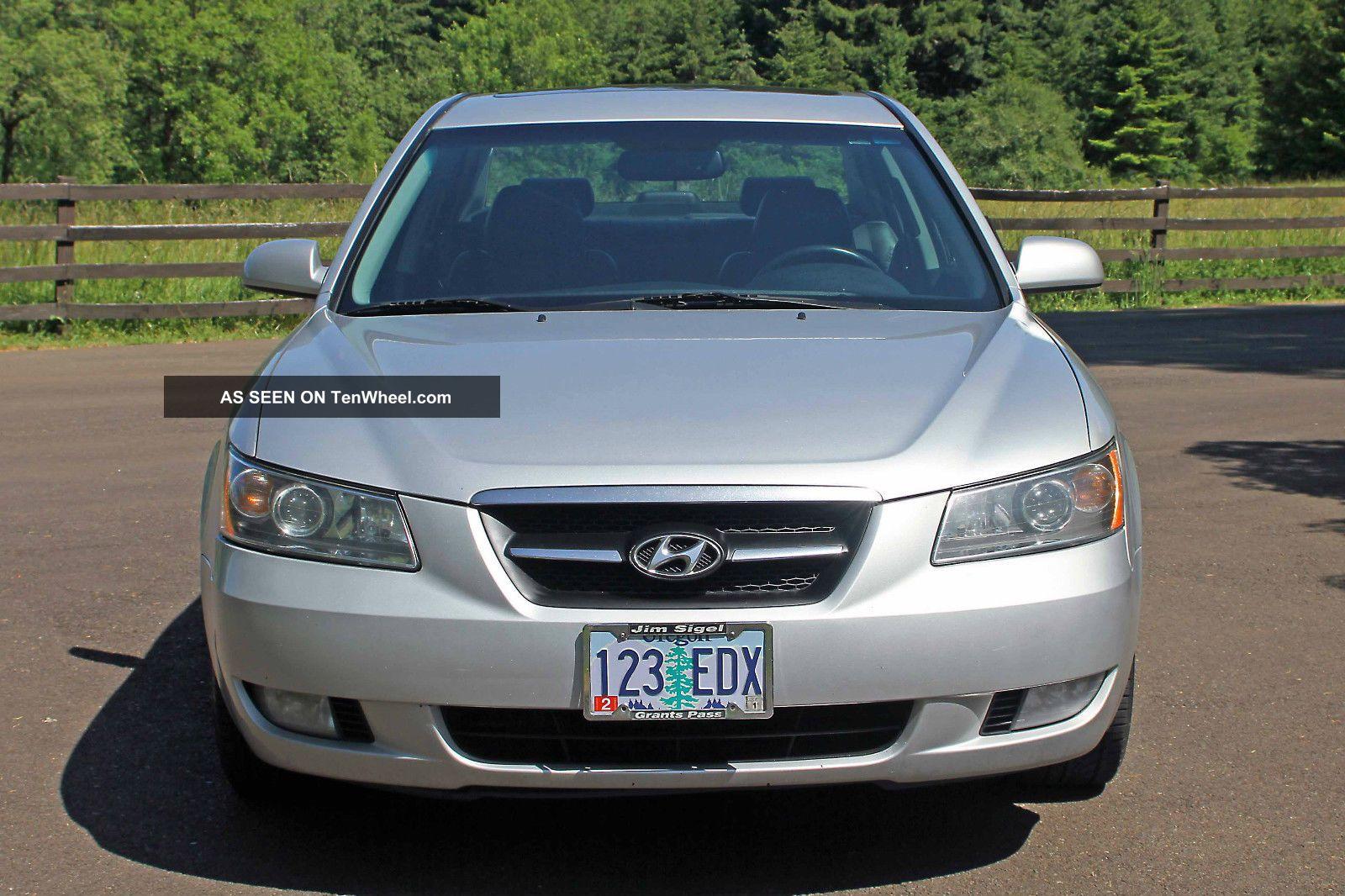 Hyundai Sonata Limited Platinum Package 2007 V6 Silver