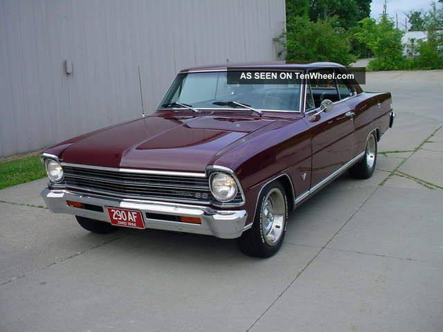 1967 Sport Numbers Match,  4 Speed,  Maderia Maroon,  Solid Body And Floors Nova photo