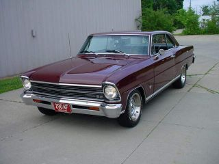 1967 Sport Numbers Match,  4 Speed,  Maderia Maroon,  Solid Body And Floors photo