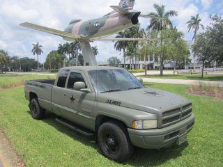 2001 Dodge Ram Slt 2500 4x2 Cummins Diesel Military Style Show Truck Mat Green photo
