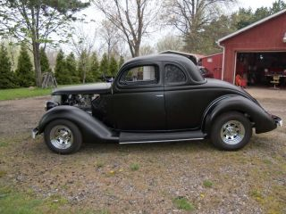 1936 Ford Coupe Hemi Hot Rod Street Rod Classic Five Window Frame Off photo
