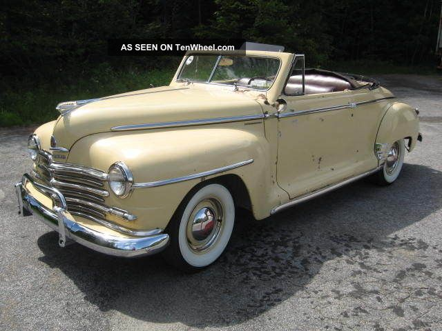 1948 Plymouth Convertible Great Little Driver Mechanics Chrome Top Interior Other photo