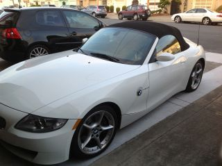 2006 Bmw Z4 3.  0si Convertible 40k White Title photo