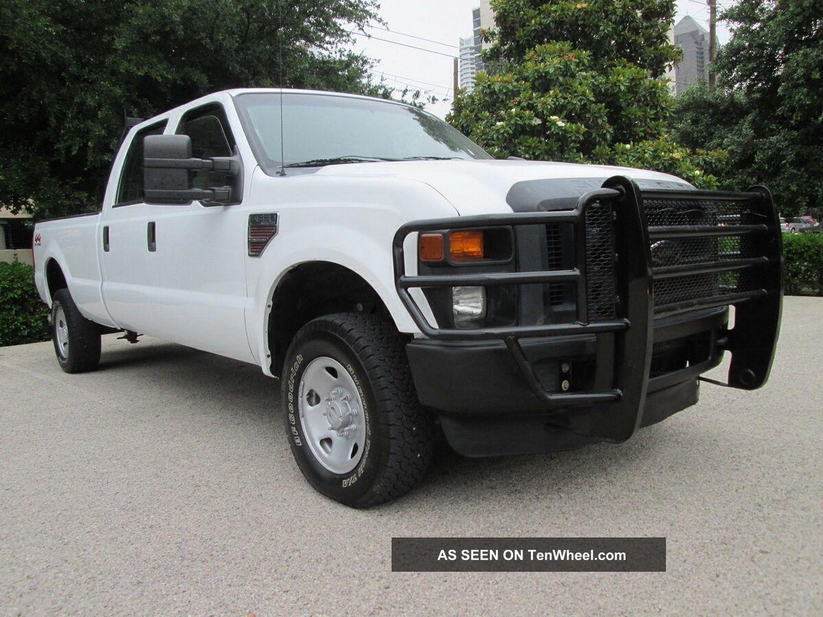 2008 ford f 350 6 4l diesel xl 4 crew cab 4x4 work truck runs good. Black Bedroom Furniture Sets. Home Design Ideas