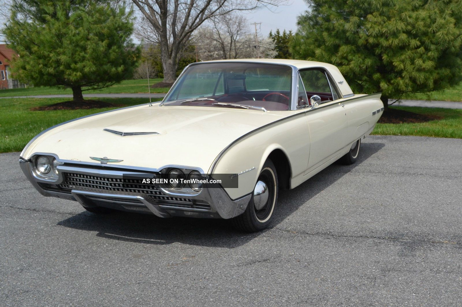 1962 ford thunderbird white with red interior. Cars Review. Best American Auto & Cars Review