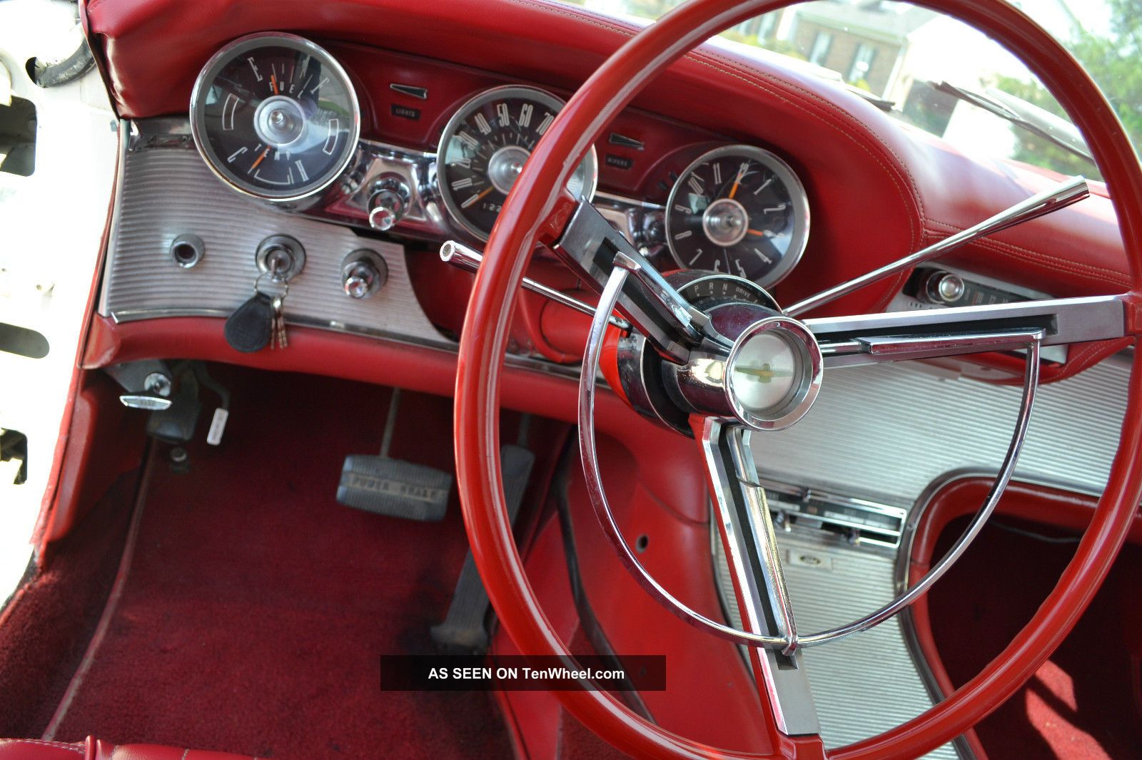 1962 Ford Thunderbird White With Red Interior