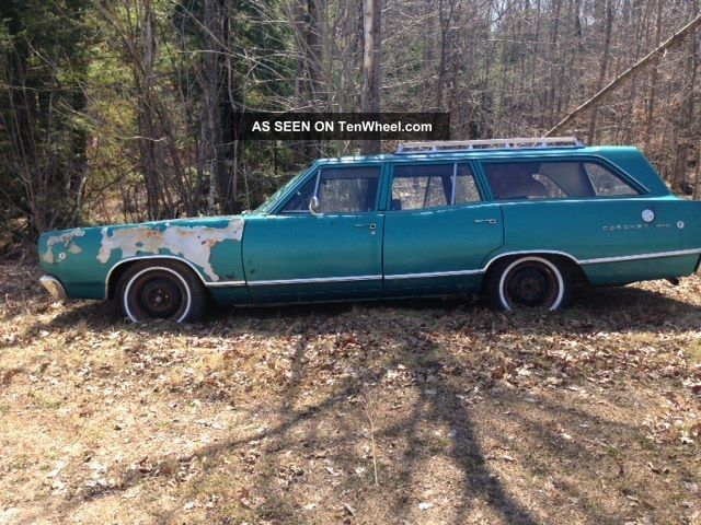 Dodge Coronet Station Wagon Special Order Passenger Factory Bbl Dual Ext Lgw