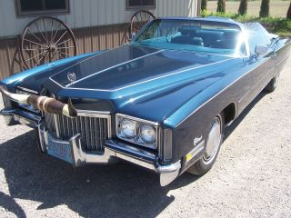 1972 Cadillac Eldorado Convertible Car Cruiser Classic Collector Project photo