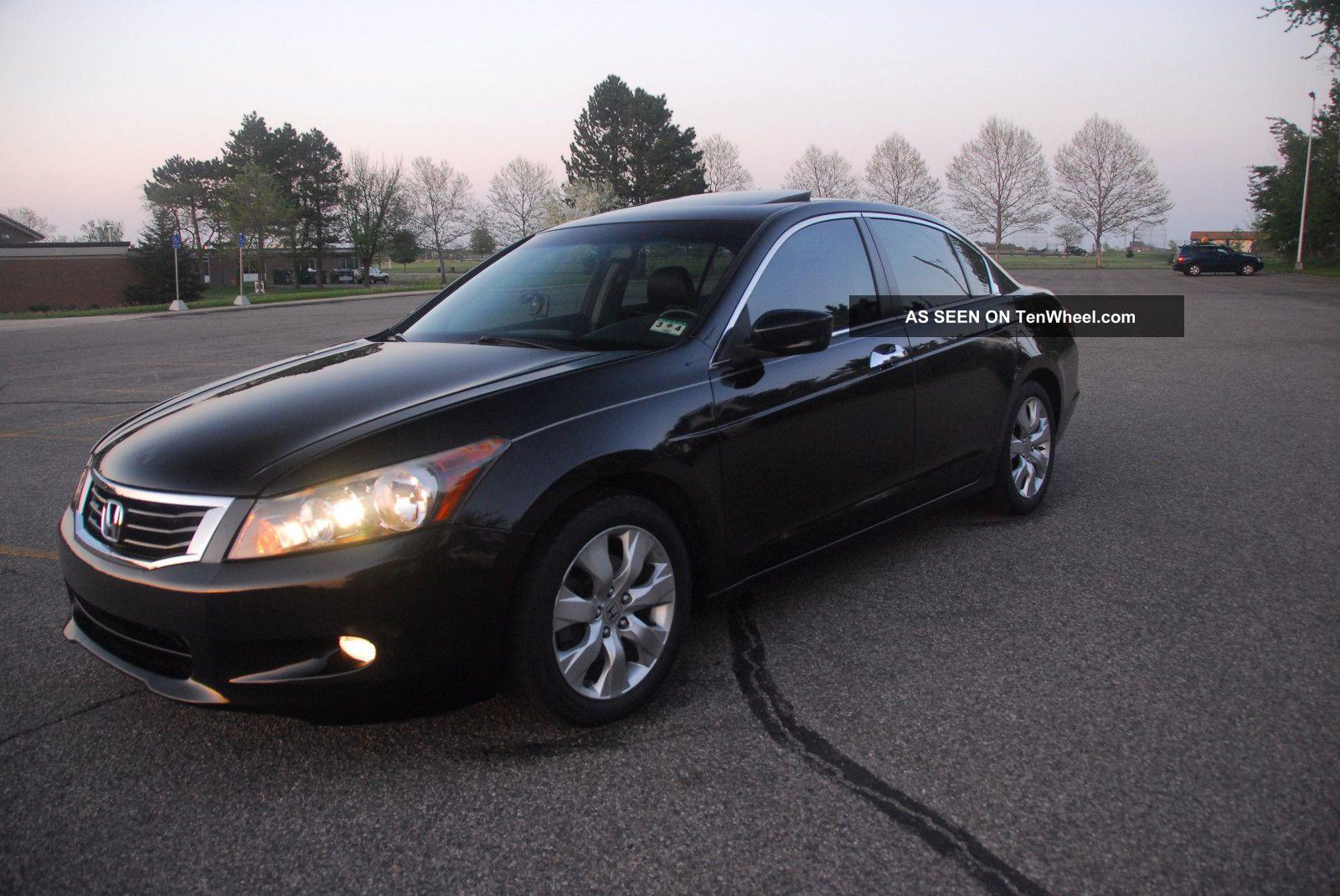 2009 honda accord ex l v6 sedan black on black for Honda accord v6 sedan