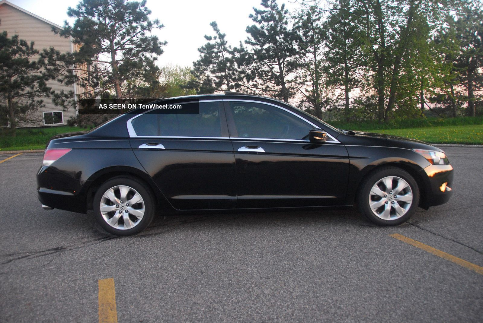 2009 honda accord ex l v6 sedan black on black. Black Bedroom Furniture Sets. Home Design Ideas