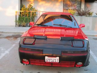 1989 Red Toyota Supra Turbo Targa Top photo