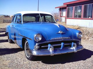 Royal Blue,  Ivory Top,  1952 Plymouth Cranbrook,  Two Door Coupe,  Upholstery photo