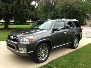 2013 Toyota 4x4 4runner Limited Suv Third Row Seating Charcoal+black photo