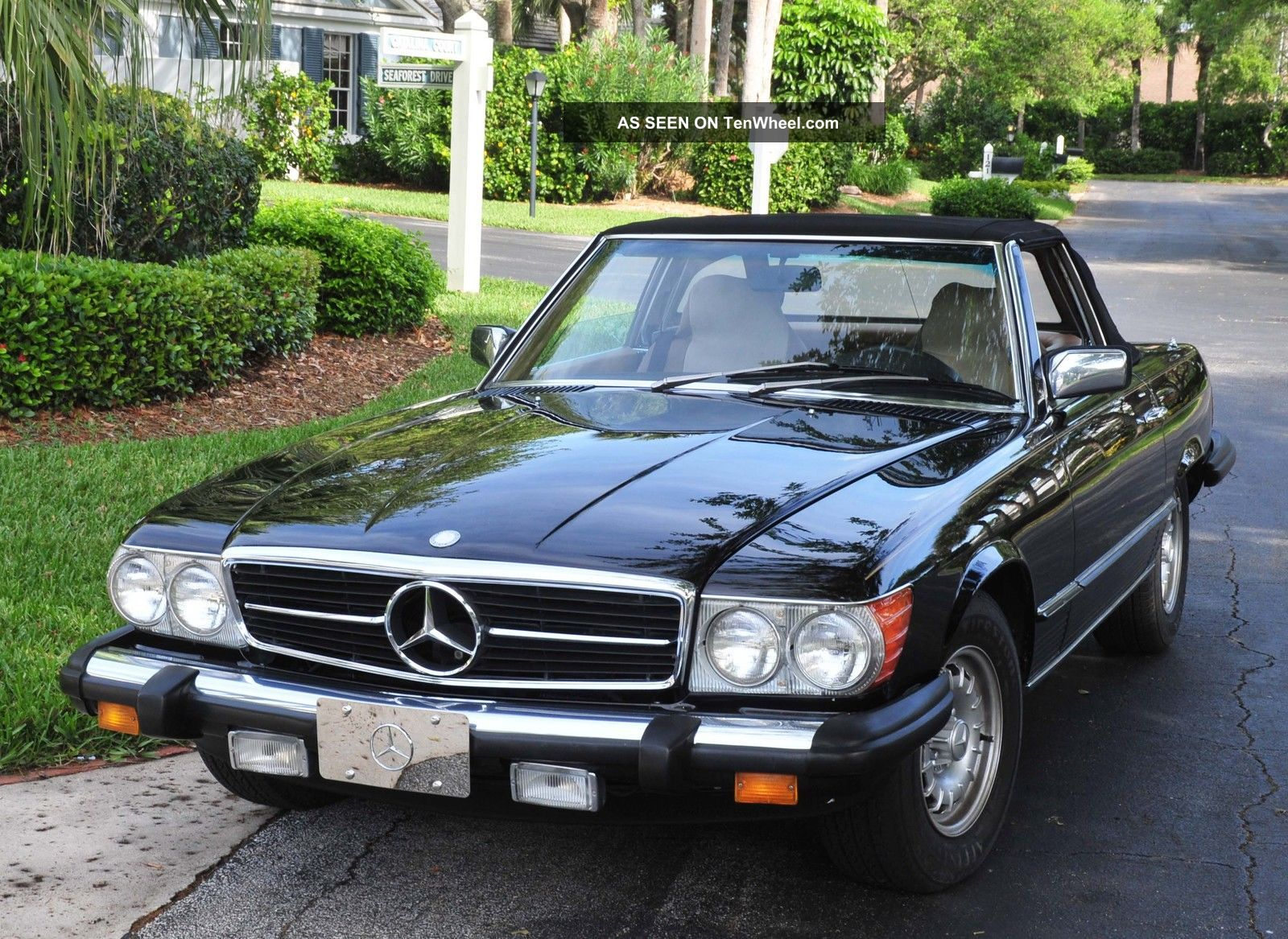 Mercedes Benz 1985 380sl Black Beauty Roadster,  Loaded,  Show Winner SL-Class photo